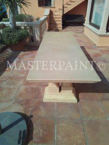 Ardex Pandomo Tisch Sanierung mit Glasfaser Gewebe
