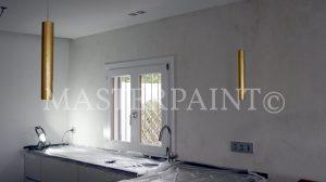 Ardex Pandomo an Küchenwand mit Steinöl versiegelt