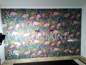 Dekor Tapete Flamingos