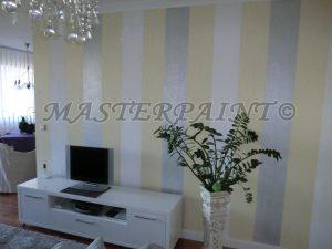 Innenraum Gestaltung mit Tapeten und Trendfarben