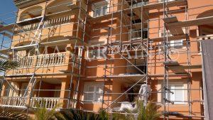 Procolor Fassaden Sanierung Eingerüstet