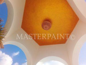 Volimea Grandezza Goldspachtel unter Kuppel Decke